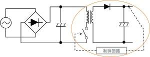 図 13:スイッチング方式の DC/DC 変換部分