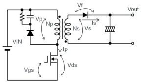 図 18:フライバック方式(連続モード時)
