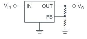 一般的なリニアレギュレータの回路構成
