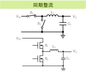 同期整流方式スイッチングレギュレータの基本回路