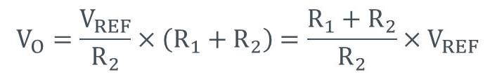 リニアレギュレータの出力電圧の計算