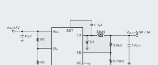 1-Channel Step-Down DC/DC Converter Incorporates High-voltage, Low On-resistance MOSFET